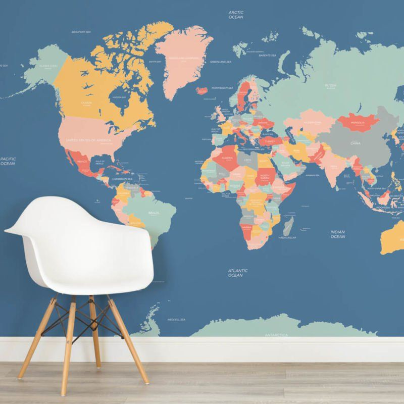 Map mural wallpaper download wallpaper high full hd full classic world map wallpaper wall mural muralswallpaper co uk neutral shades world map mural custom made gumiabroncs Choice Image