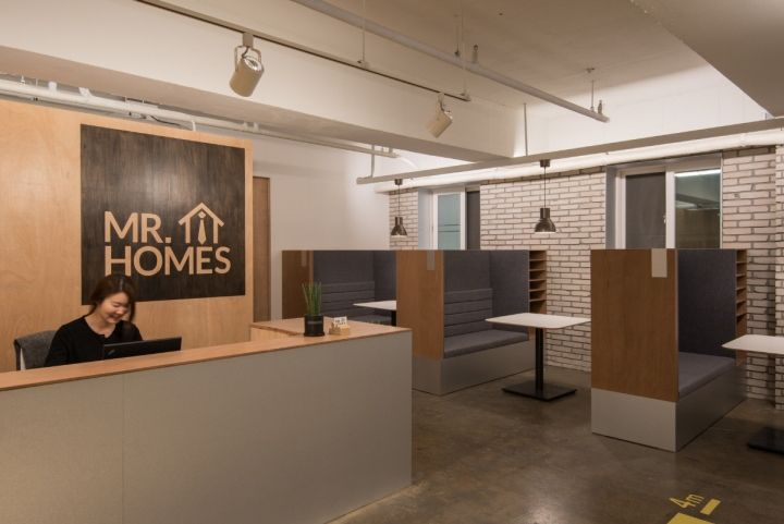 Mr Homes Real Estate Agency Office By Intu Ne Seoul South Korea Retail Design Blog House Design Home Agency Office