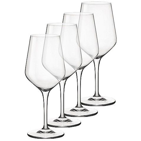 Crafted exclusively from bormioli rocco star glass for the for Thin stem wine glasses