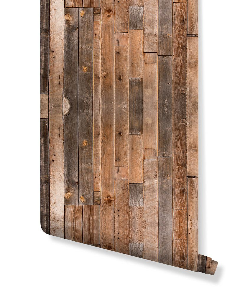 Rustic Wood Planks Removable Wallpaper CC107 (With images