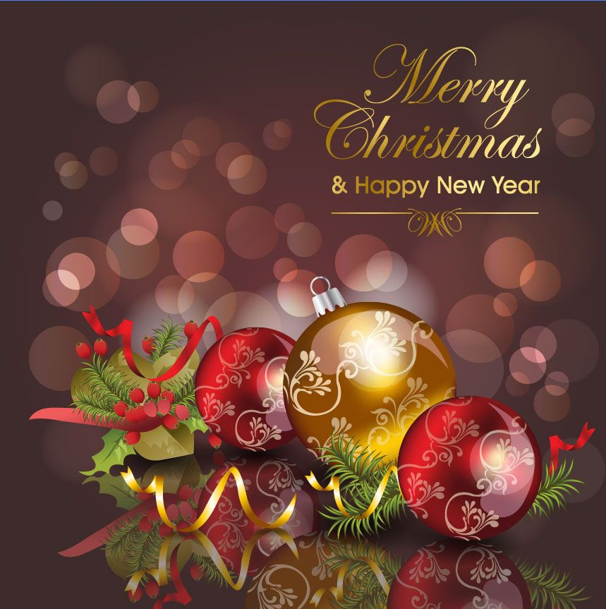 christmas cards | Merry christmas card vector-1 | Vector Sources ...