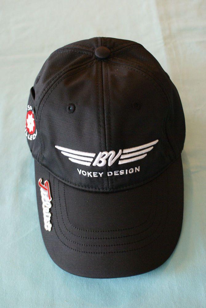 57bec10b562 BV Vokey Design Black Golf Hat  Titleist  BaseballCap
