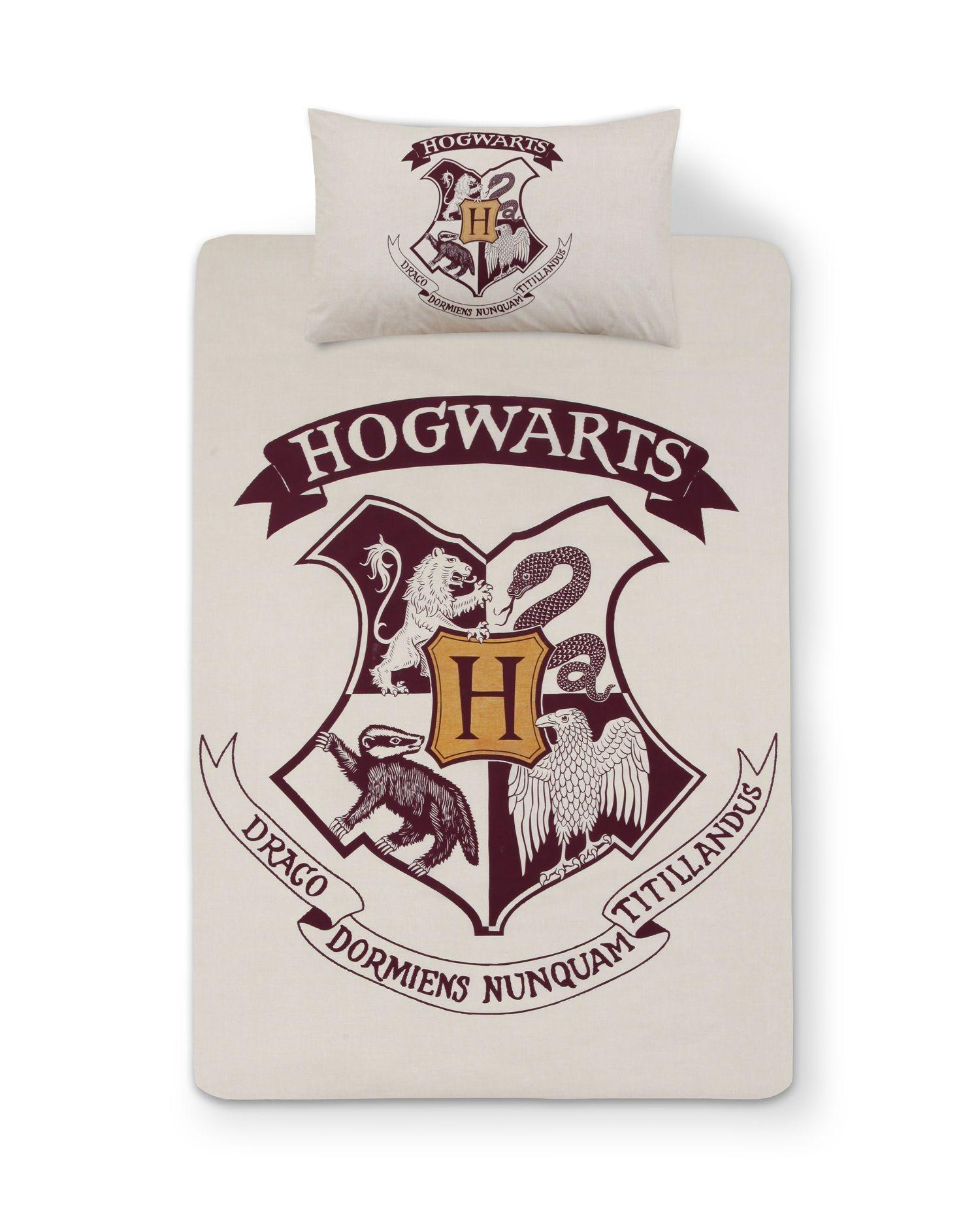 HARRY POTTER HOGWARTS Duvet Reversible Bed Set Primark