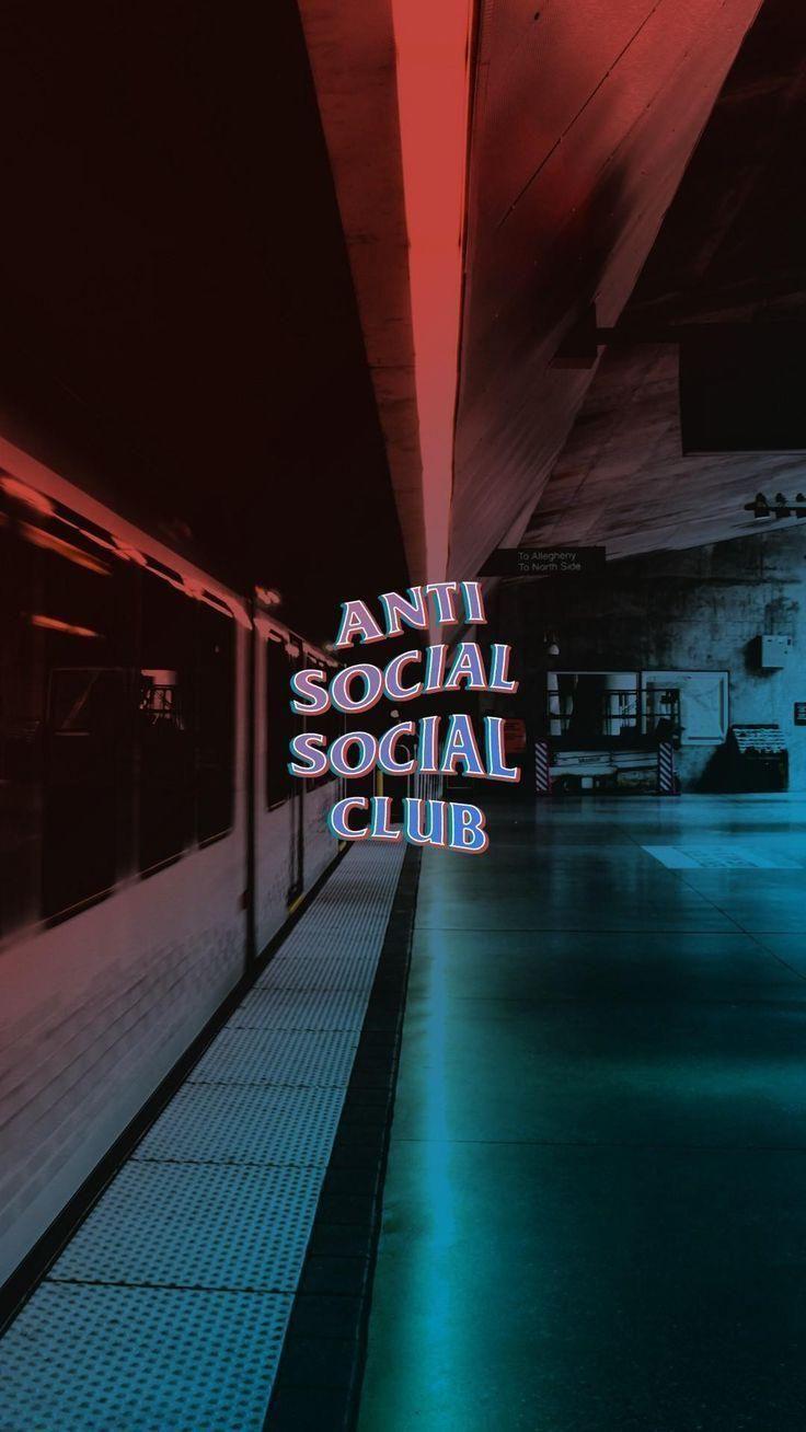 Anti social social club blue and red urban wallpaper #ASSC ...
