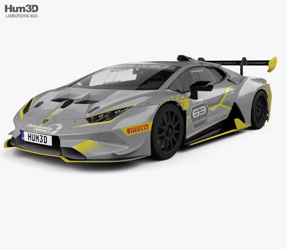 Lamborghini Huracan Super Trofeo Evo Race 2018 3d Model From Hum3d Com Lamborghini Huracan Lamborghini 3d Model