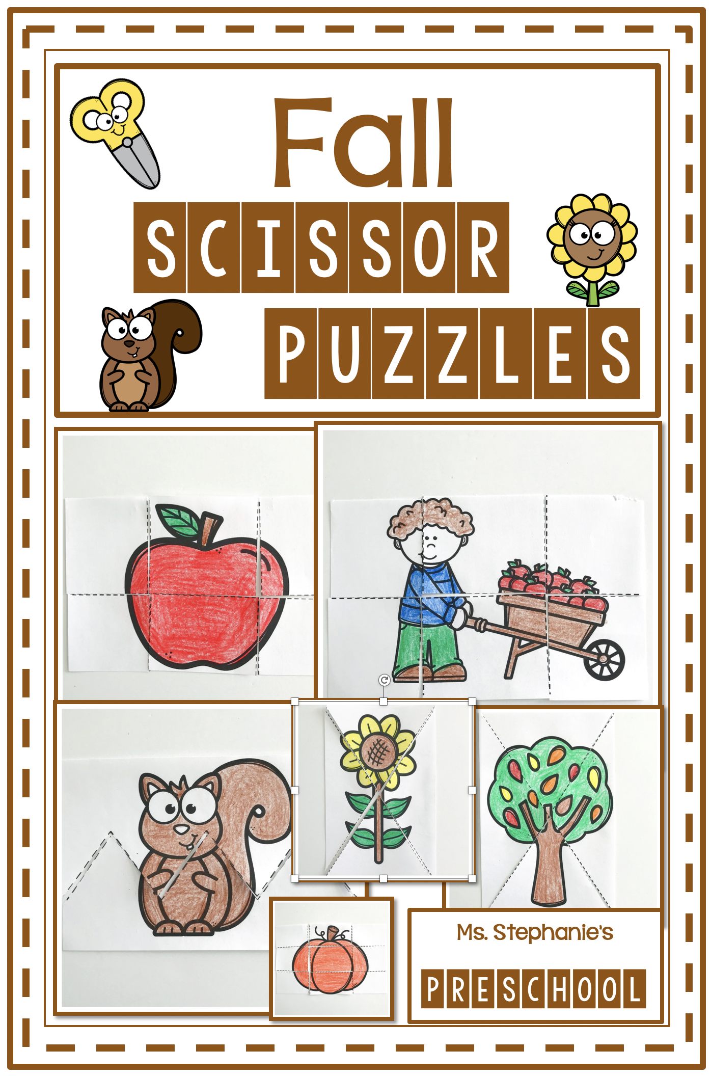 Fall Scissor Puzzles In
