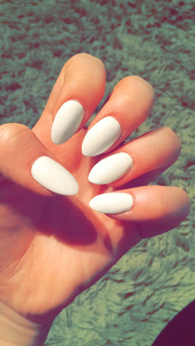 These Nails Are So Plain But It Just Has A Spark For Some Reason Pointy Nails Summer Nails Colors Summer Nails Colors Designs