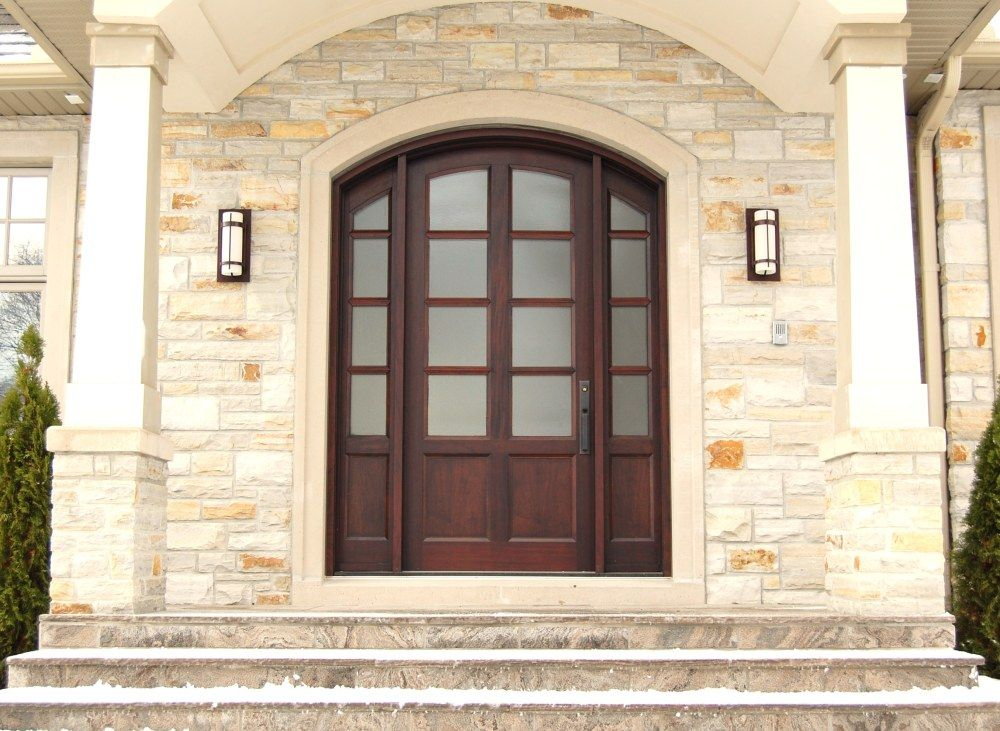 Arched entry.