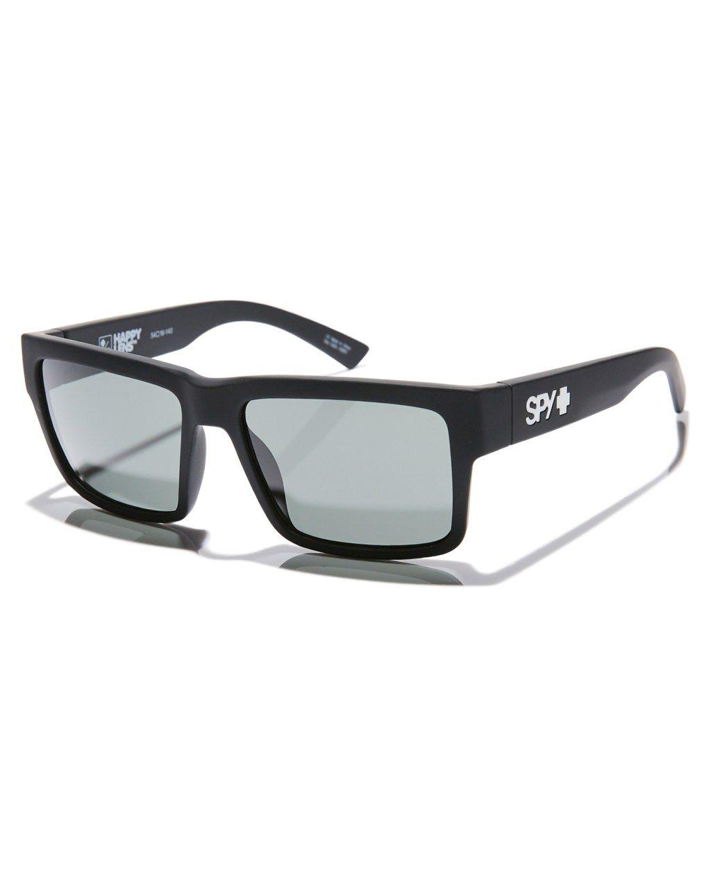 ceea5fdf47395 Spy Montana Happy Lens Sunglasses Matte Black Green Mens sunglasses Size