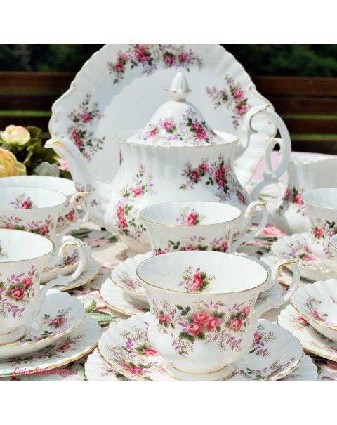 Royal Albert Lavender Rose tea set #teasets