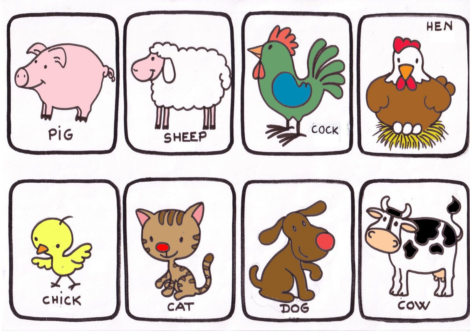 14 Ideas De Granja En Ingles Granja En Ingles Animales De La Granja Animales