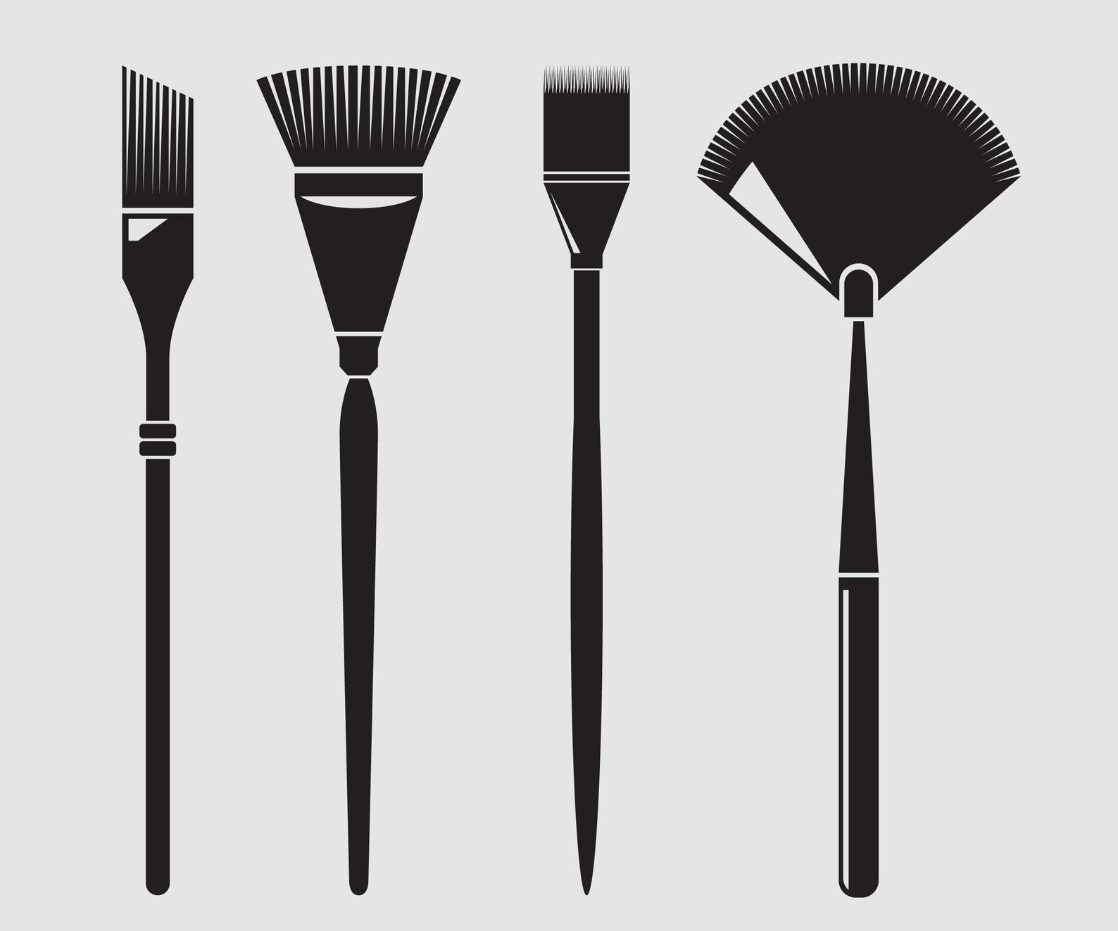 Paint Brush Cosmetic Brush Make Up Brushes Brush Svg Brush Etsy It Cosmetics Brushes Makeup Brushes Paint Brushes