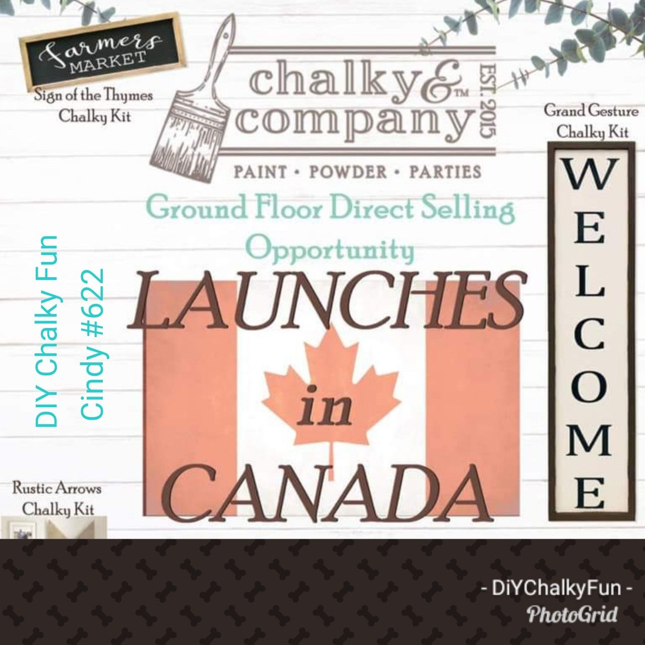 Chalky Canada Coming Soon! Farmers market sign, Market