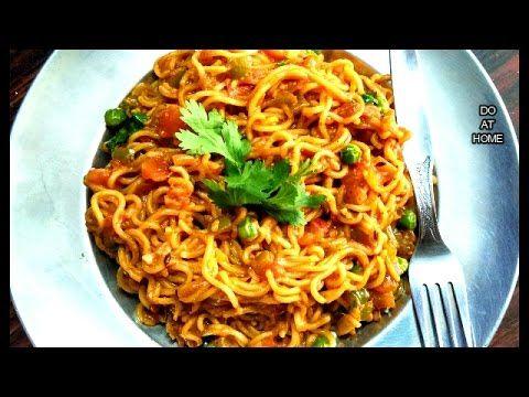 Street Style Maggi Masala Noodles Tasty Spicy Maggi Masala Noodles