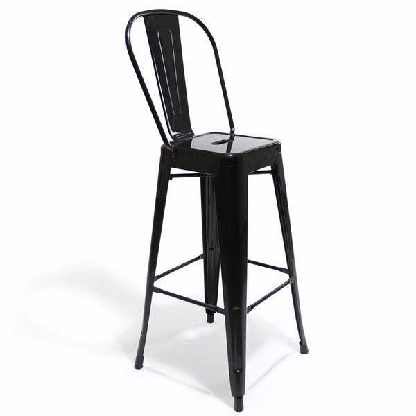 Tremendous Xavier Pauchard Style Tolix High Back Barstool Black O Gmtry Best Dining Table And Chair Ideas Images Gmtryco