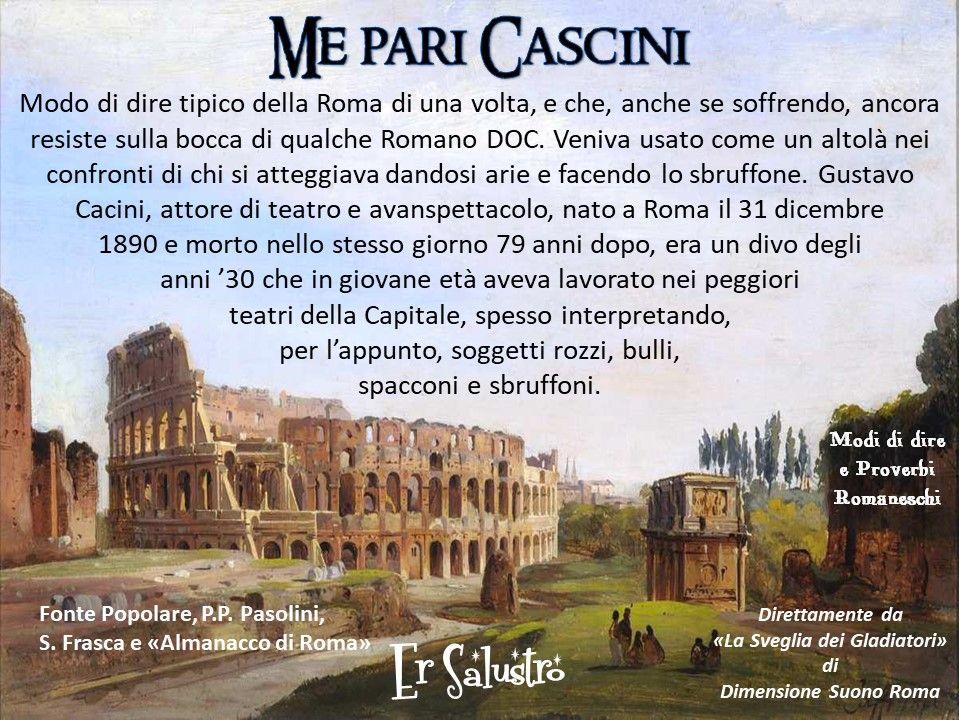 Roma Romanesco Dialetto Tradizione Cultura Cacini Ersalustro