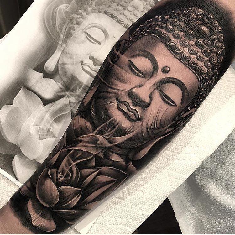 Wondering When They Ll Make A Buddha Emoji Jp Alfonso In 2020 Buddhist Tattoo Buddha Tattoos Buddha Tattoo Sleeve