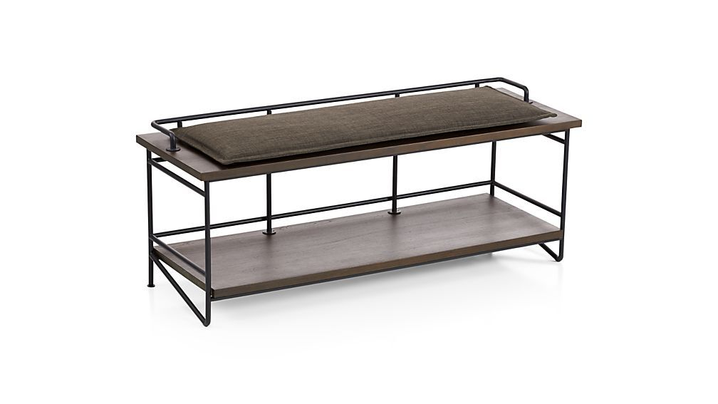 Andes Bench With Cushion | Crate And Barrel