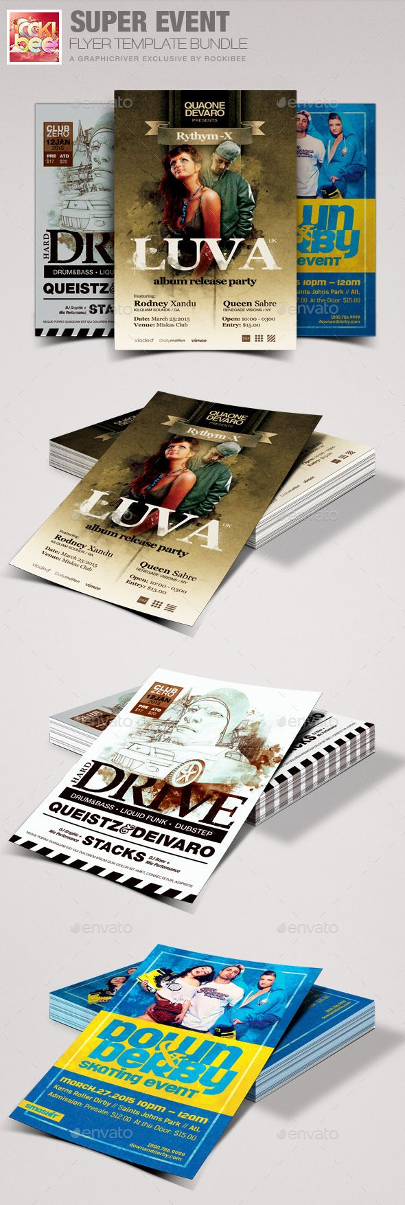Super Event Flyer Template Bundle | Event flyer templates, Event ...
