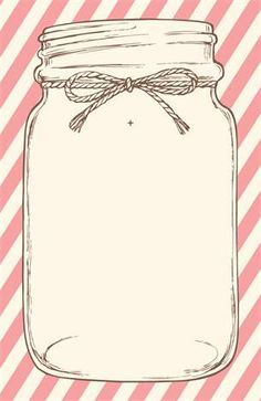 Vertical Flat Wedding Invitations Cute Love This One You Could Use This For Mason Jar Clip Art Mason Jar Wedding Invitations Bridal Shower Invitations Diy