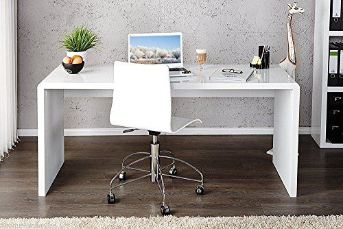 furniturebox uk enzo white high gloss computer pc home executive rh pinterest com