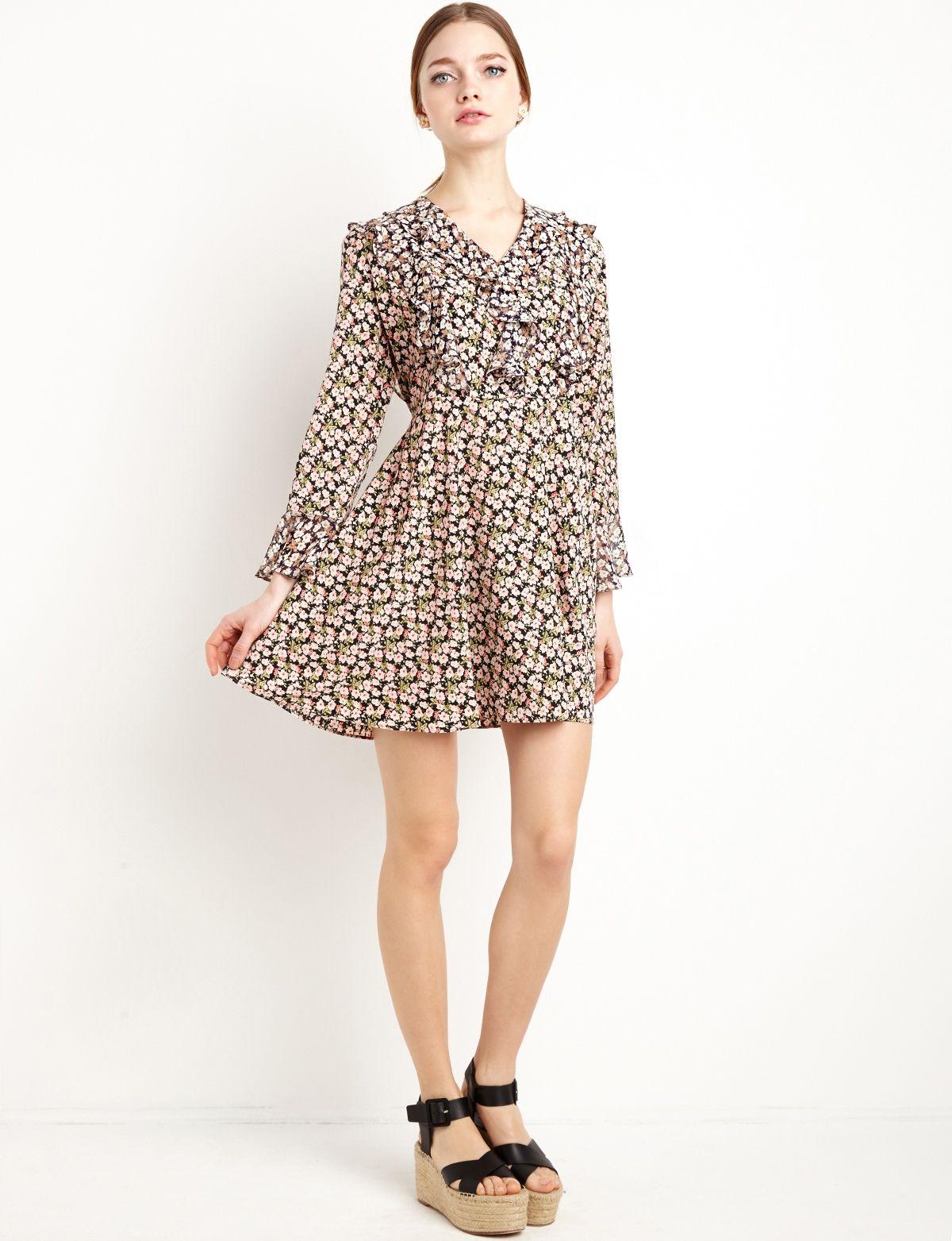 572b3aa5c5d0 Floral Ruffle Dress #fashion #pixiemarket   New Arrivals   Dresses ...