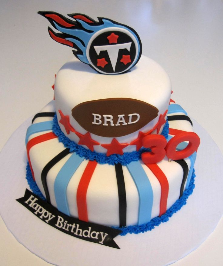 Tennessee Titans cake Football party Tennessee Titans Cakes