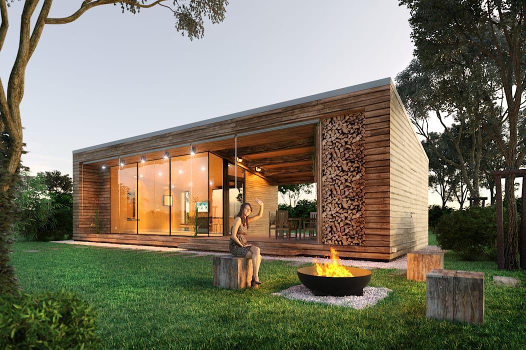 Projekty Minimalistyczne Domy Zaprojektowane Przez Eugene Chekhov Casas De Madera Diseno Casas Campestres Casas Estilo Cabana