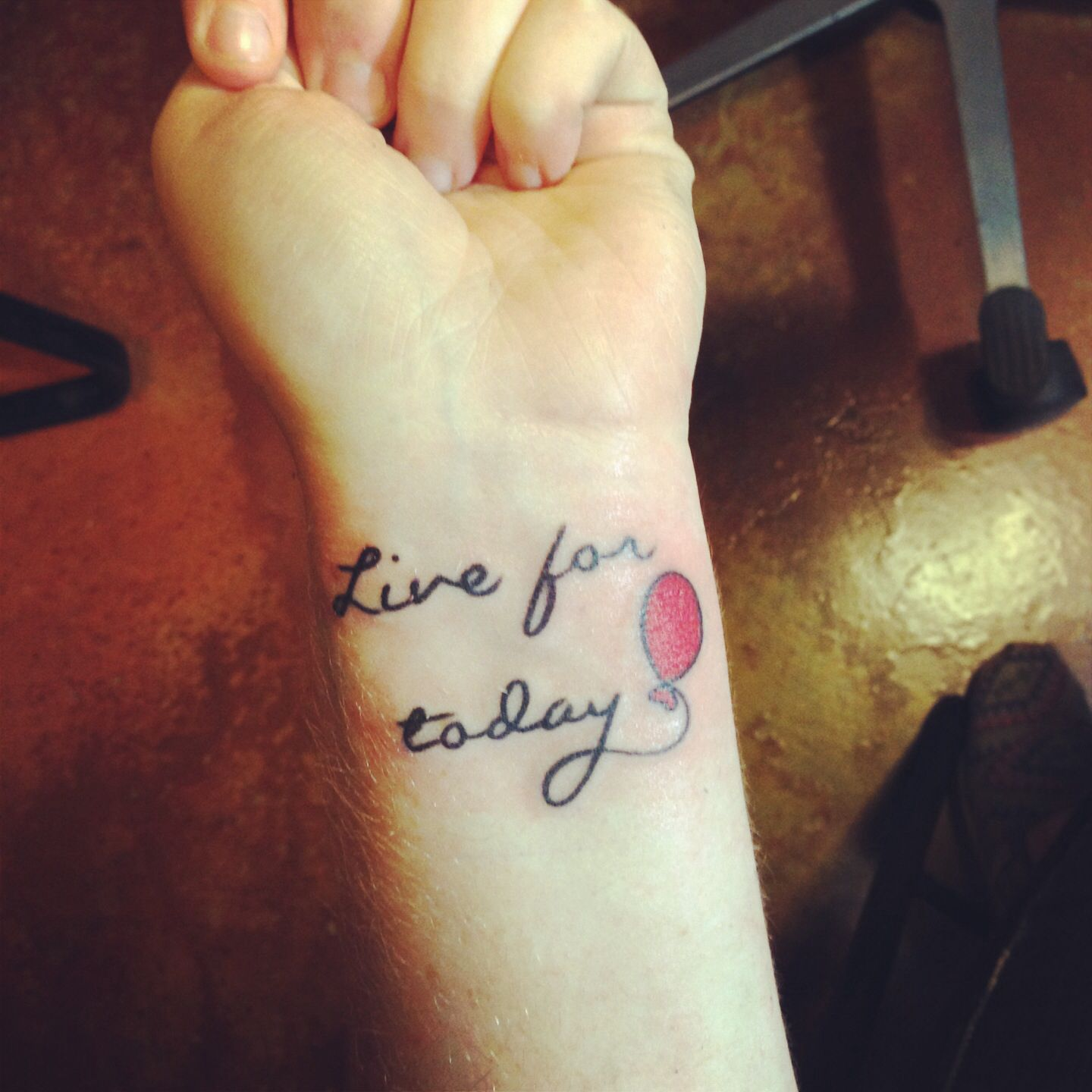 Live Each Day As If It S Your Last Day Here On Earth Live Everyday To Fullest Make Sure To Never Leave Words Unspo Full Tattoo Tattoos Think Before You Speak
