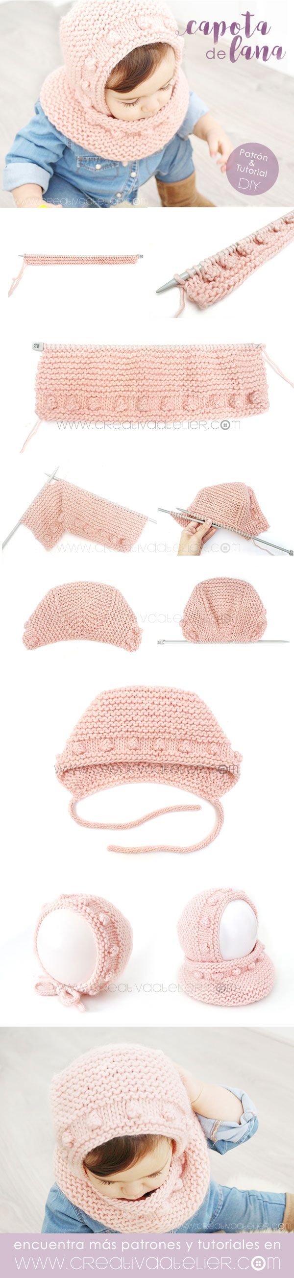 Capota de Bebé a Punto Bobo [ Tutorial y Patrón GRATIS ] | Crochet ...