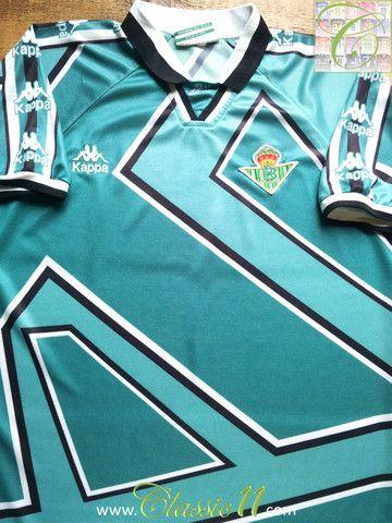 02567a85356 Relive Real Betis  1995 1996 season with this vintage Kappa away football  shirt.