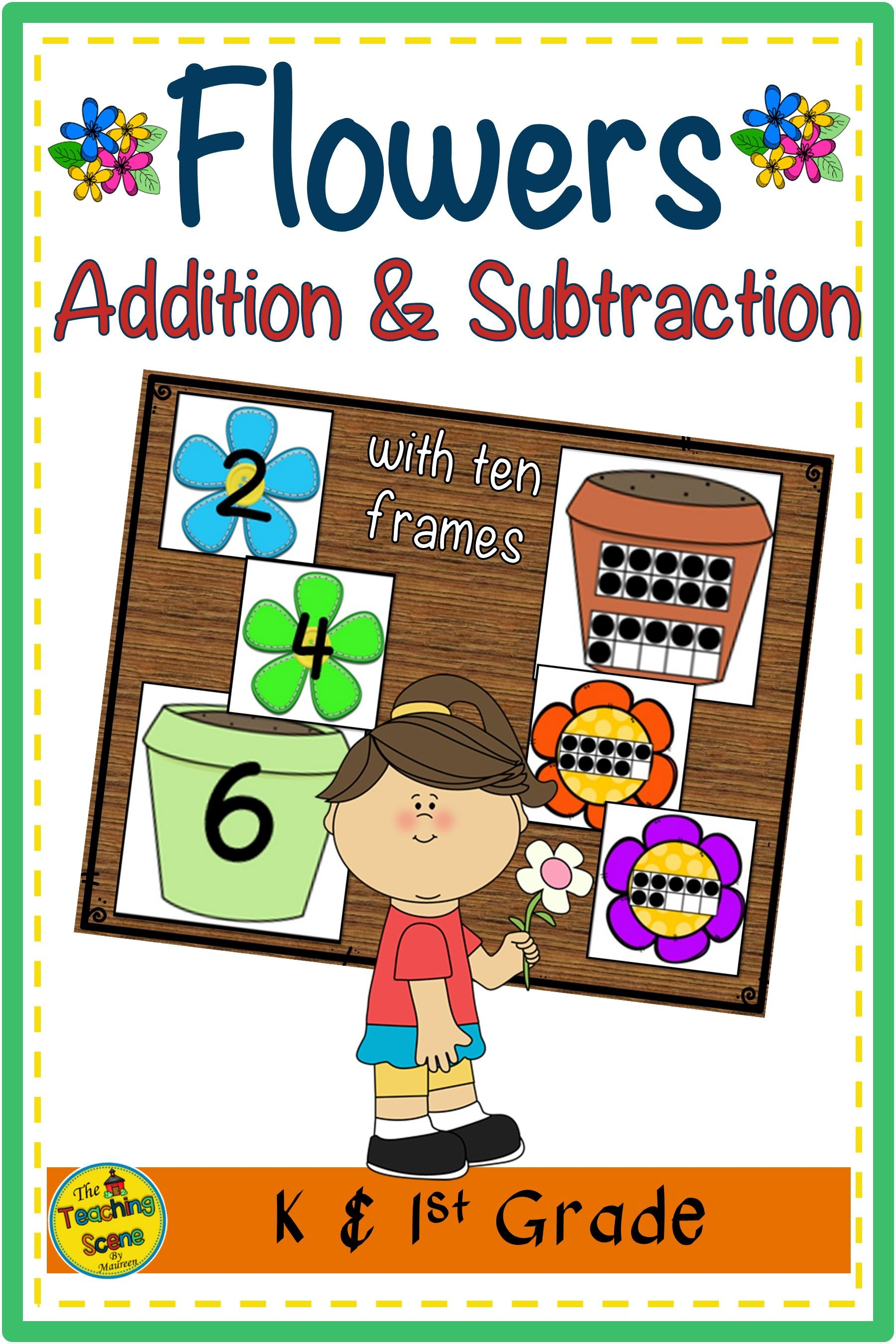 Flowers 2 Addend Addition Amp Subtraction With Ten Frames In