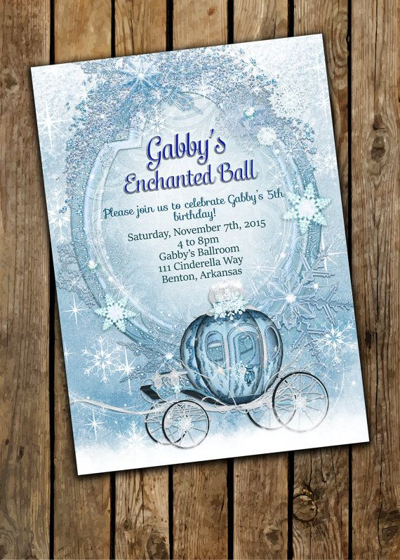 Cinderella Invitation Princess Party Invitations Cinderella