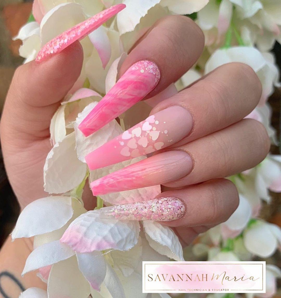Pink Fluff  ______________________________ Glitterbels Acrylics : • Pink Fluff •..., #acrylicnails #allacrylic #allpowder #bristolnails #coffinnails #customnails #glitterbels #glitternails #marblenails #nailedit #nailglam #nailgram #nailmagazine #nailpro #nailpromagazine #nailpromote #nails #nailsbysavannah_xx #nailsdesigns #nailsofinstagram #nailsoftheday #nailsoftheweek #nailsonfleek #nailtech #pinknails #scratchmagazine #showscratch #stilettonails #swarovskicrystals #vanessanailzfeatures