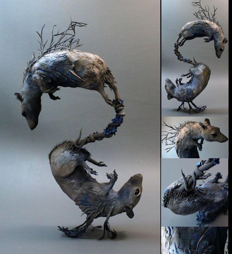 Ellen Jewett, Twin rats - Chinese horoscope series, 2013, argilla