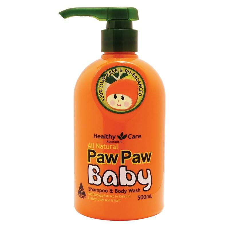 Healthy Care All Natural Paw Paw Baby Shampoo Wash 500ml Baby