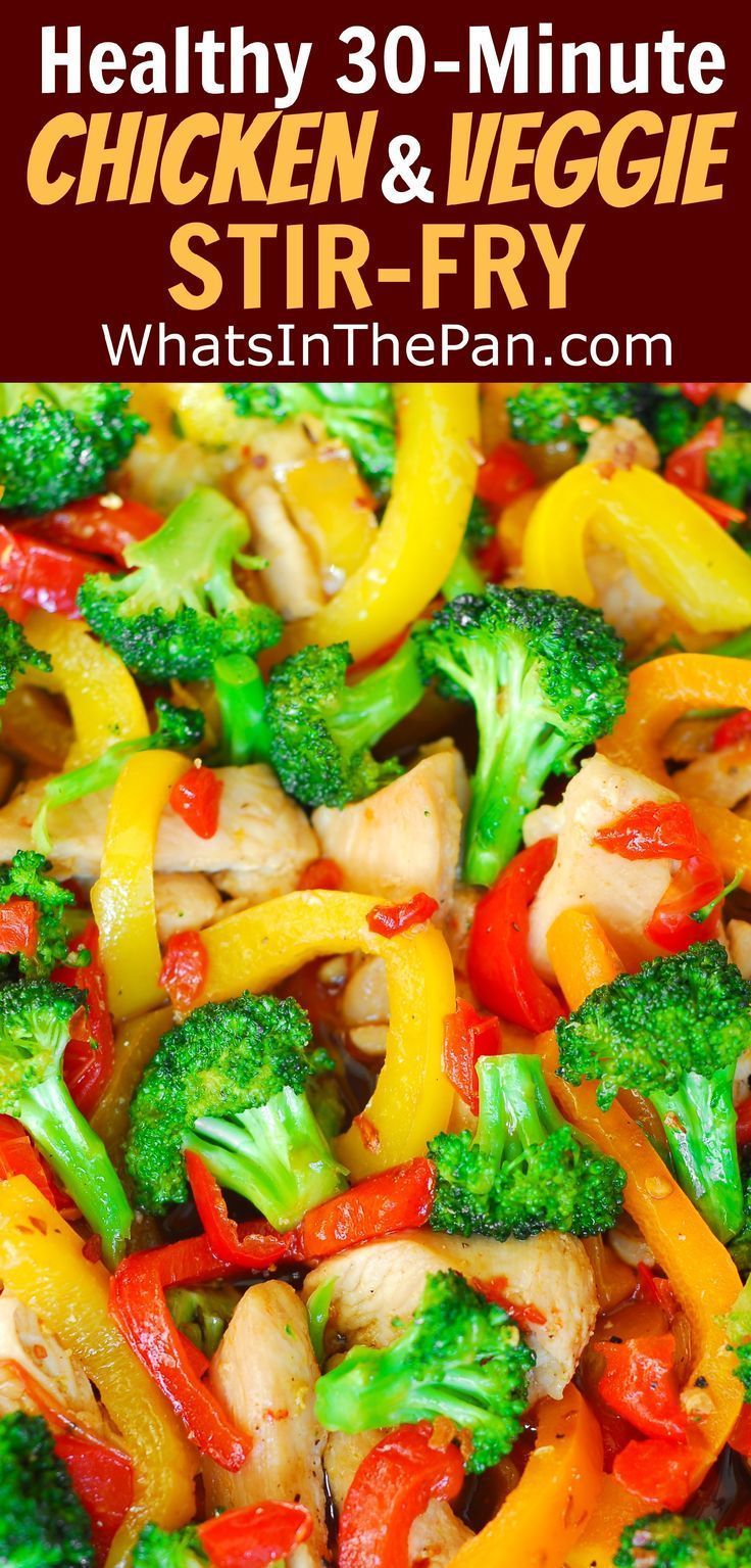 Photo of Easy Chicken and Vegetables Stir Fry