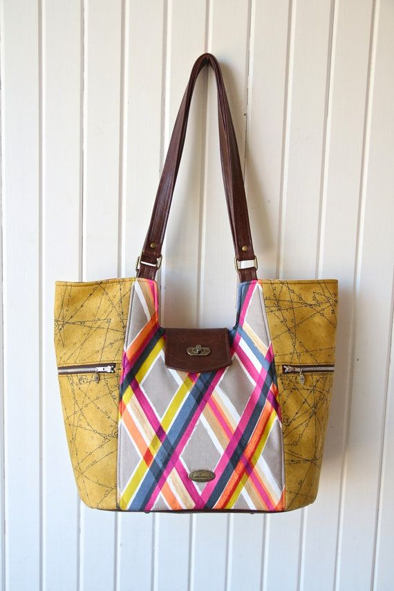 The Mimosa Market Tote- PDF Sewing pattern | Pdf sewing patterns ...