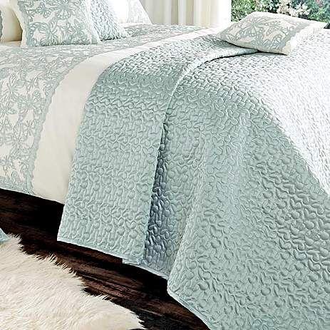 Evie Butterfly Duck Egg Bed Linen Collection | Dunelm