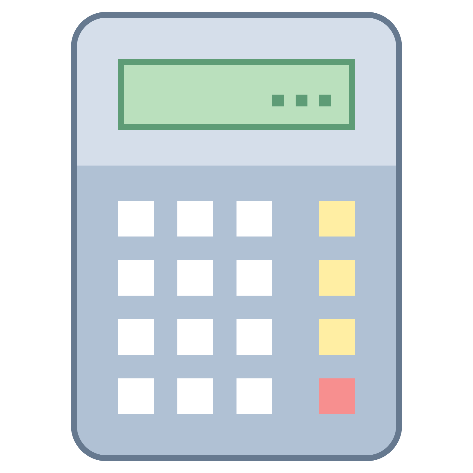 Calculator Icon An Icon Of A Calculator Which Is One Big Rectangular Square And In The Rectangle There Are 12 Squares Connected T In 2020 Iphone Icon Calculator Icon