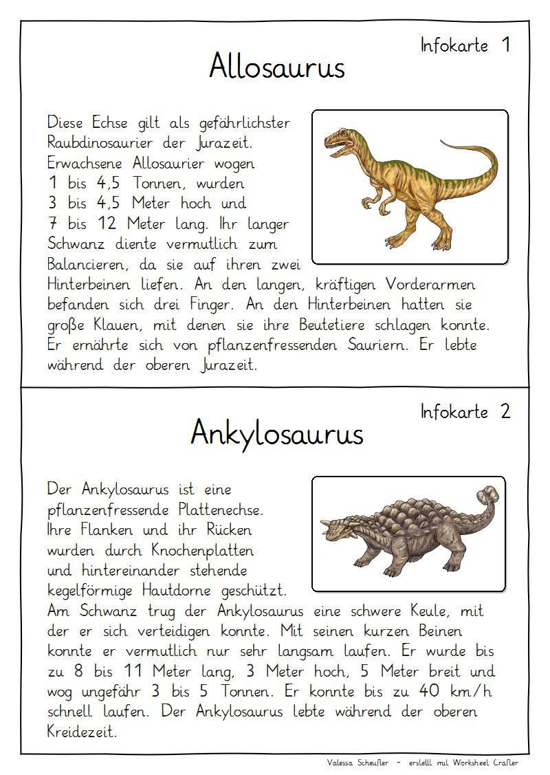 Eulenpost - Kleine Dinosaurier-Kartei | iskolai feladatokhoz ...
