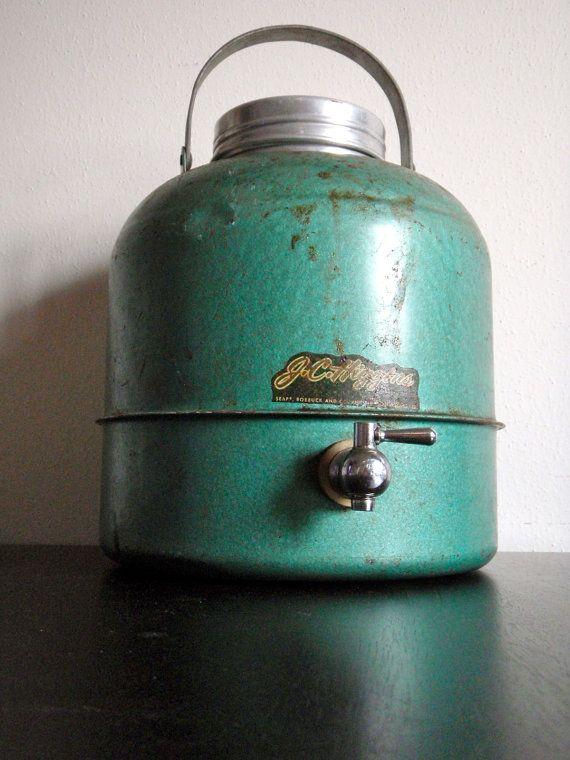 Vintage water cooler | Cool It | Vintage cooler, Water