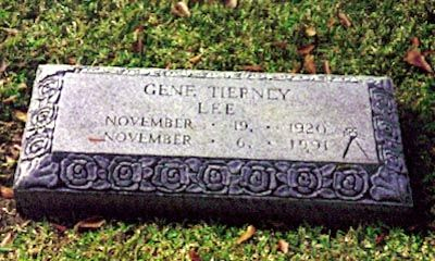 Gene Tierney (1920 - 1991) - Find A Grave Photos | Graves of the
