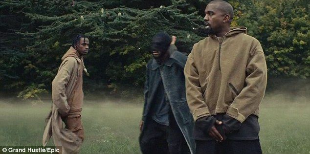 Kanye West And Travis Scott Star In New P On Your Grave Video Kanye West Songs Kanye West Travis Scott Music Video