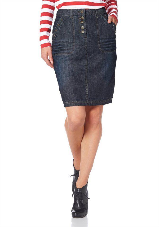 b0e03509aa2cb Cheer Jeansrock mit figurfreundlichen Teilungsnähten | Fashion ...