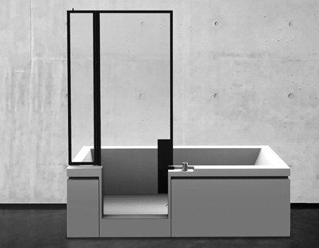 Vasca doccia finestre parigine suggeriscono l 39 idea il nuovo combinato teuco firmato jean michel - Decor italy vasca ...