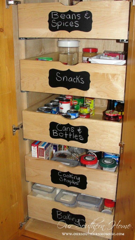 Organized Pantry Never Waste Food Again Deep Pantry Organization Pantry Drawers Deep Pantry