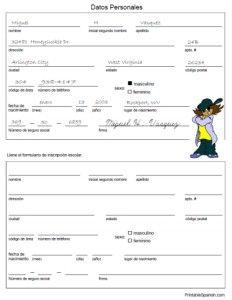 Spanish worksheet form practice filling out personal information spanish worksheet form practice filling out personal information datos personales ibookread ePUb
