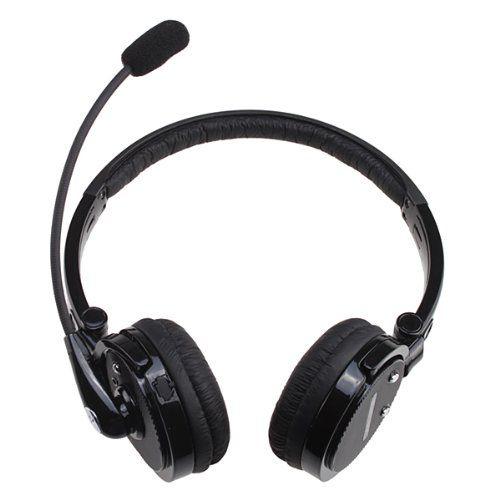Agptek 2 In 1 Stereo Handsfree Headset Boom Mic Noise Canceling Wireless Bluetooth Headphone For Cellphones Iphone 4s Ipa Headset Bluetooth Headset Headphones