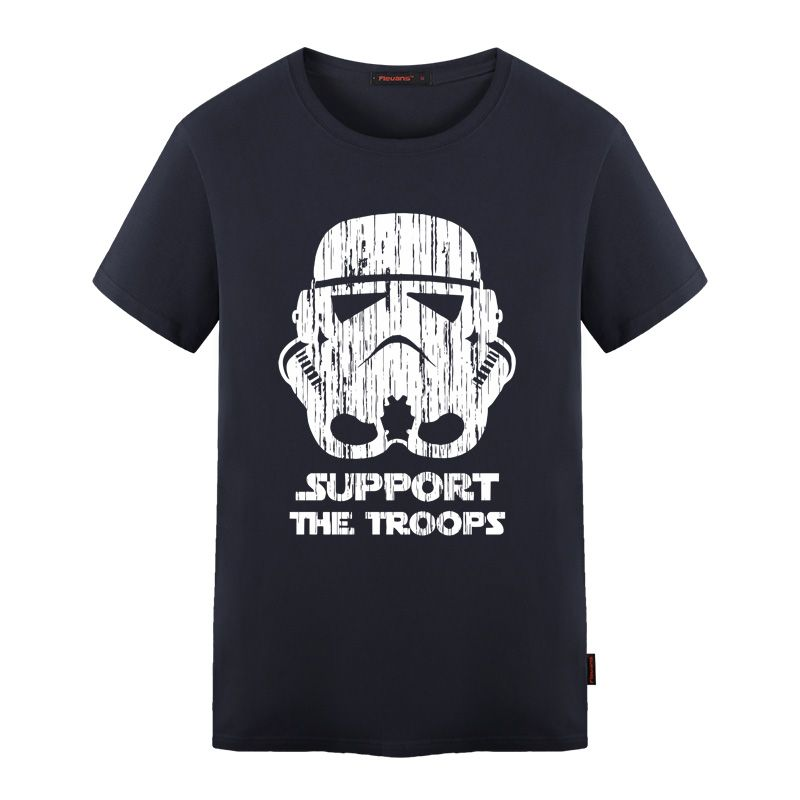 >> Click to Buy << Star Wars T Shirts Men Support The Troops T-Shirt Mens Cotton O Neck t shirt Man Tees S-5XL #Affiliate